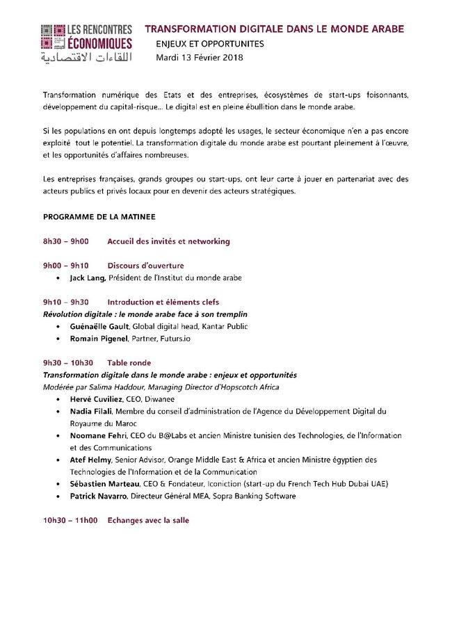 Rencontres economiques 2018