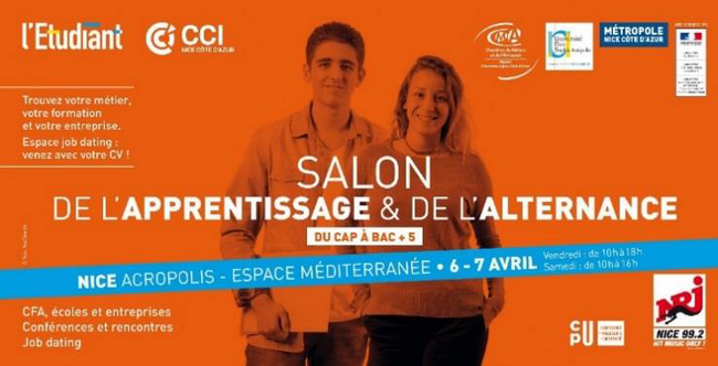 Nice le 6 avril 2018 inauguration du salon de l for Salon de l apprentissage et de l alternance