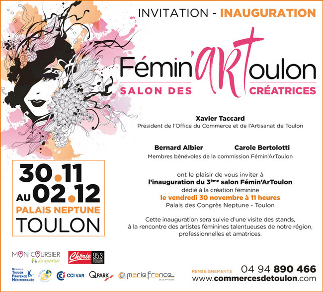 Inauguration Salon Fémin'Art - Vendredi 30 novembre