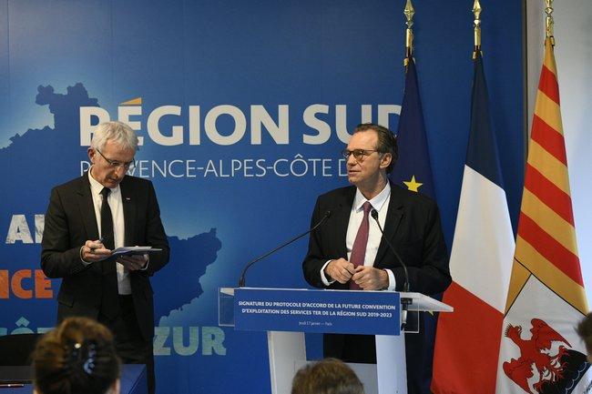 Renaud MUSELIER et Guillaume PEPY signent un protocole d'accord pour un service de transport ferroviaire régional de qualité FRANCK PENNANT 1