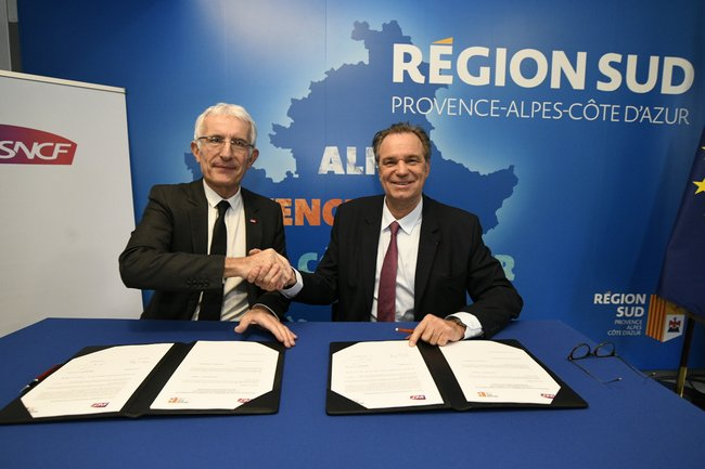 Renaud MUSELIER et Guillaume PEPY signent un protocole d'accord pour un service de transport ferroviaire régional de qualité FRANCK PENNANT 2