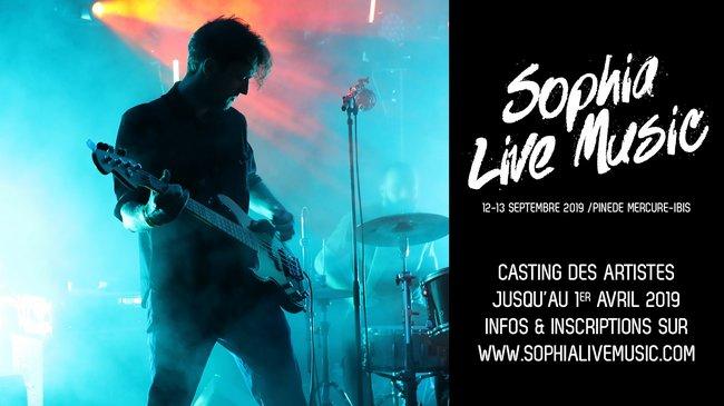 Sophia Live Music Le CASTING 2019 est ouvert !