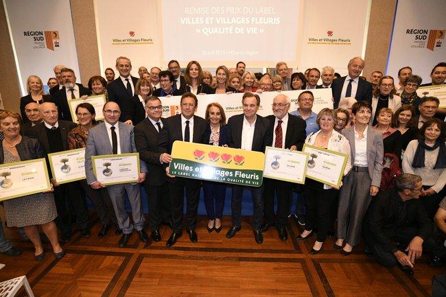 cérémonie de remise du label Villes et Villages Fleuris Qualité de Vie FRANCK PENNANT