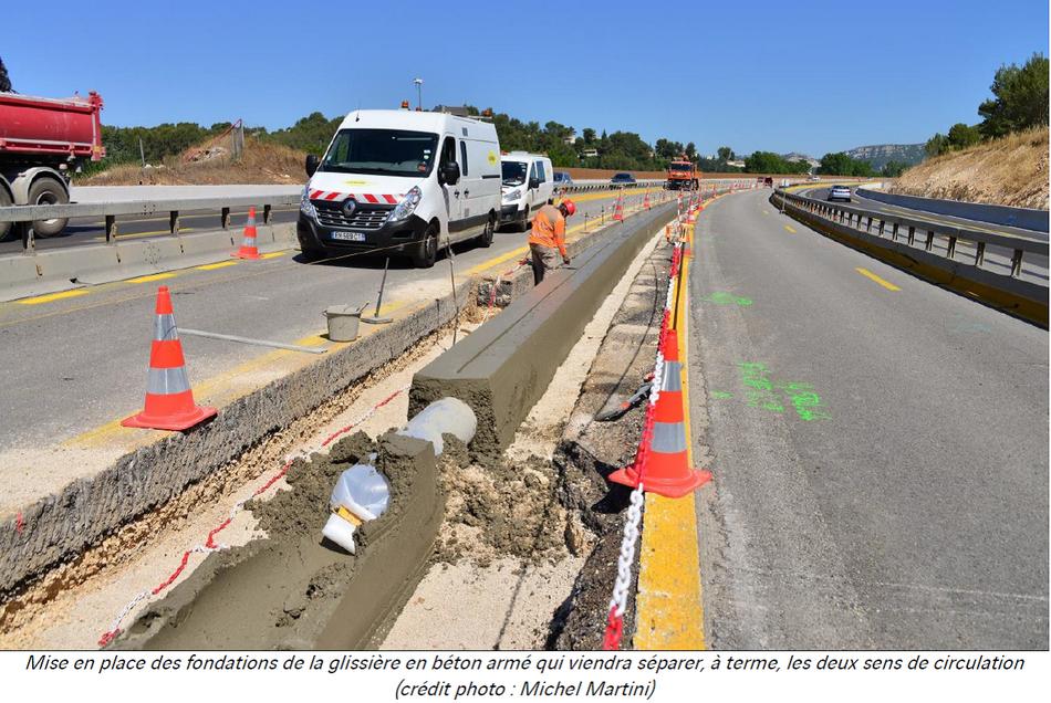 A52 Elargissement Poursuite des travaux et modification de la circulation
