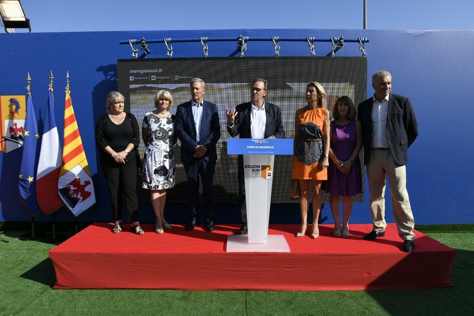 Inauguration du stand de la Région à la Foire de Marseille Franck PENNANT 3