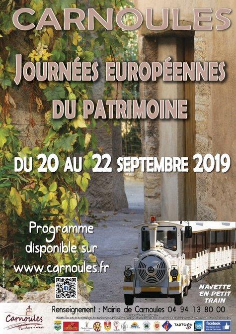 Journées Européennes du Patrimoine (20 au 22 sept 2019)