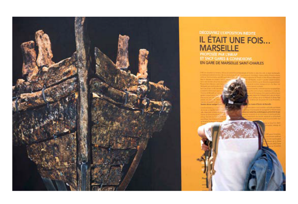 L'archéologie s'expose en gare de Marseille Saint Charles