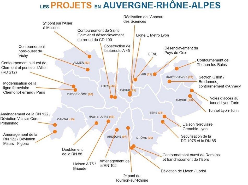 Les 24 infrastructures indispensables en Auvergne-Rhône-Alpes