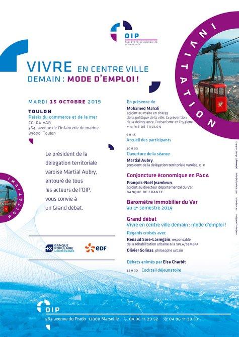 OIP - Débat Var 15 octobre