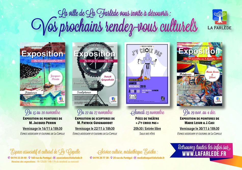 LA FARLEDE : Du 15 au 20 novembre 2019, exposition de peintures de Jacques PERRINn - La lettre économique et politique de PACA - Presse Agence