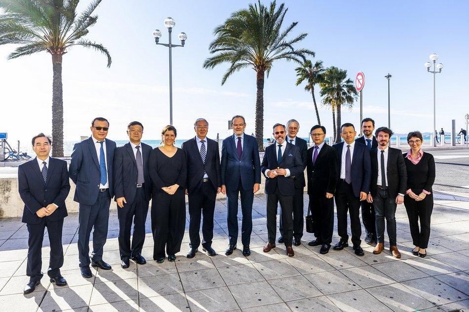 Accueil d'une délégation de Xiamen à la Mission Nice Patrimoine Mondial