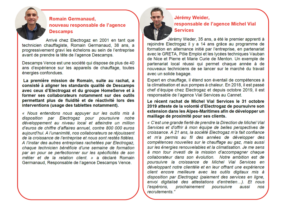 Electrogaz se renforce dans les Alpes-Maritimes avec le rachat de deux sociétés 2