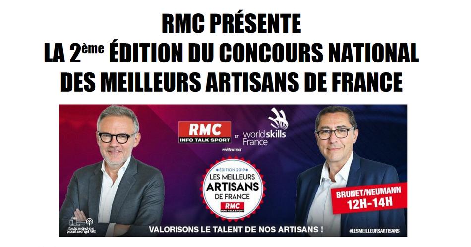 RMC LANCE LA 2EME EDITION DU CONCOURS NATIONAL DES MEILLEURS ARTISANS DE FRANCE