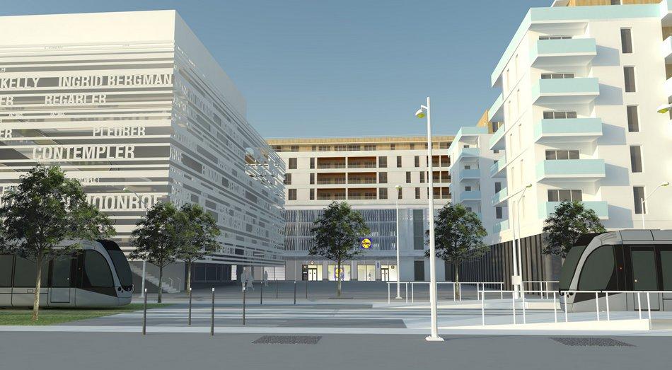 LIDL nouveau concept supermarche´ Nice 26-02-2020
