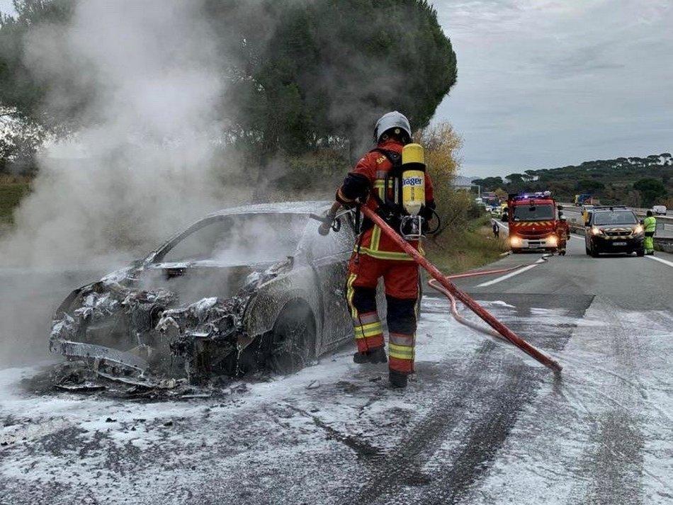 accident de la route sur l'A8