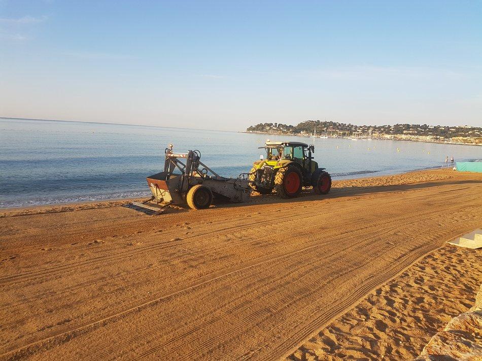 Entretien et sécurité des plages de Cavalaire