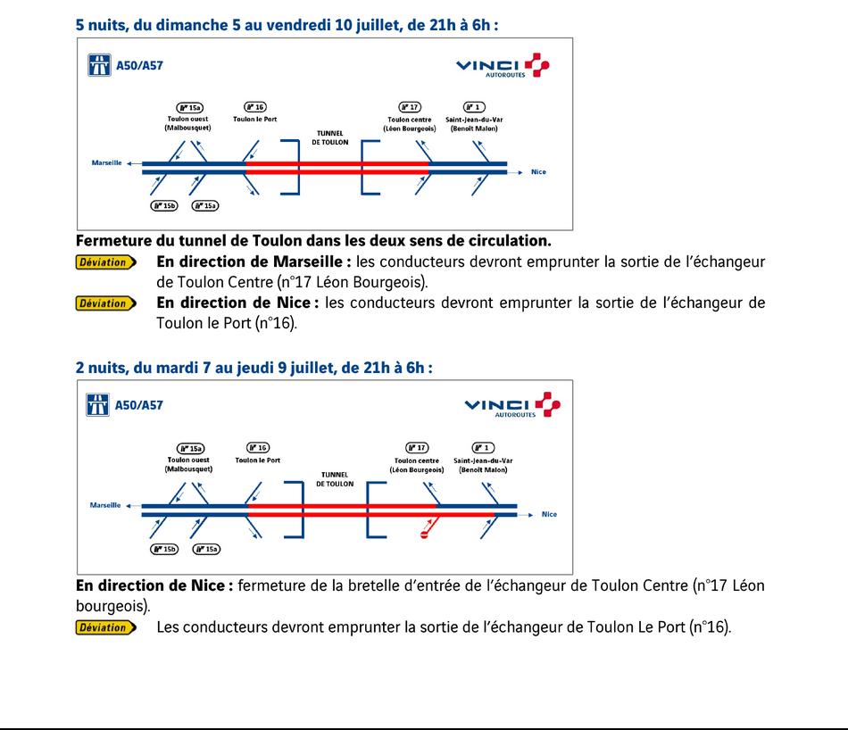travaux de maintenance dans le tunnel de Toulon 5