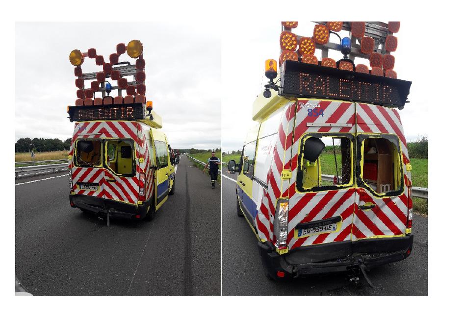véhicule de sécurité heurté sur le réseau VINCI Autoroutes