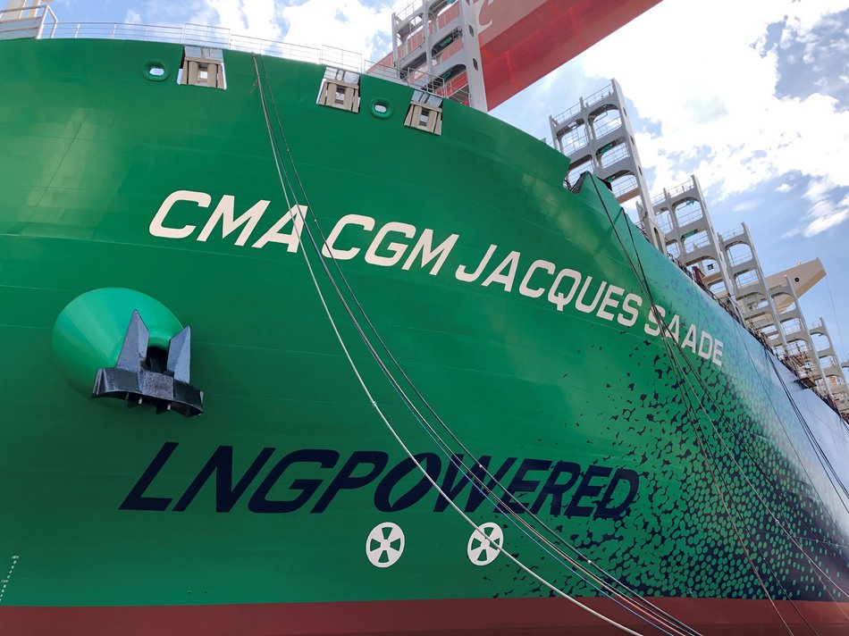 CMA CGM JACQUES SAADE LNG POWERED copyrightCMACGM
