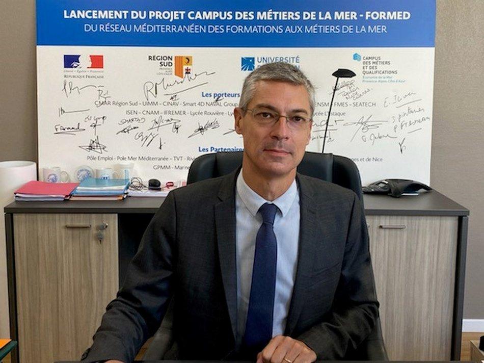 Xavier Leroux, président de l'Université de Toulon