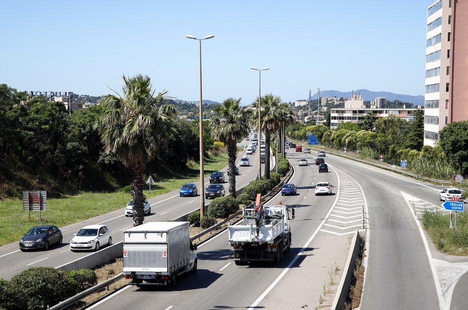 A57 à l'entrée de Toulon